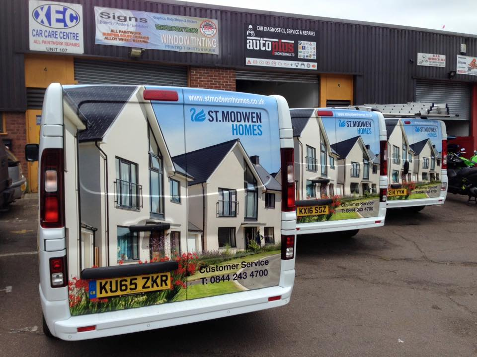 3 van 	sign livery by Signs 2 Stick, Signs Northampton