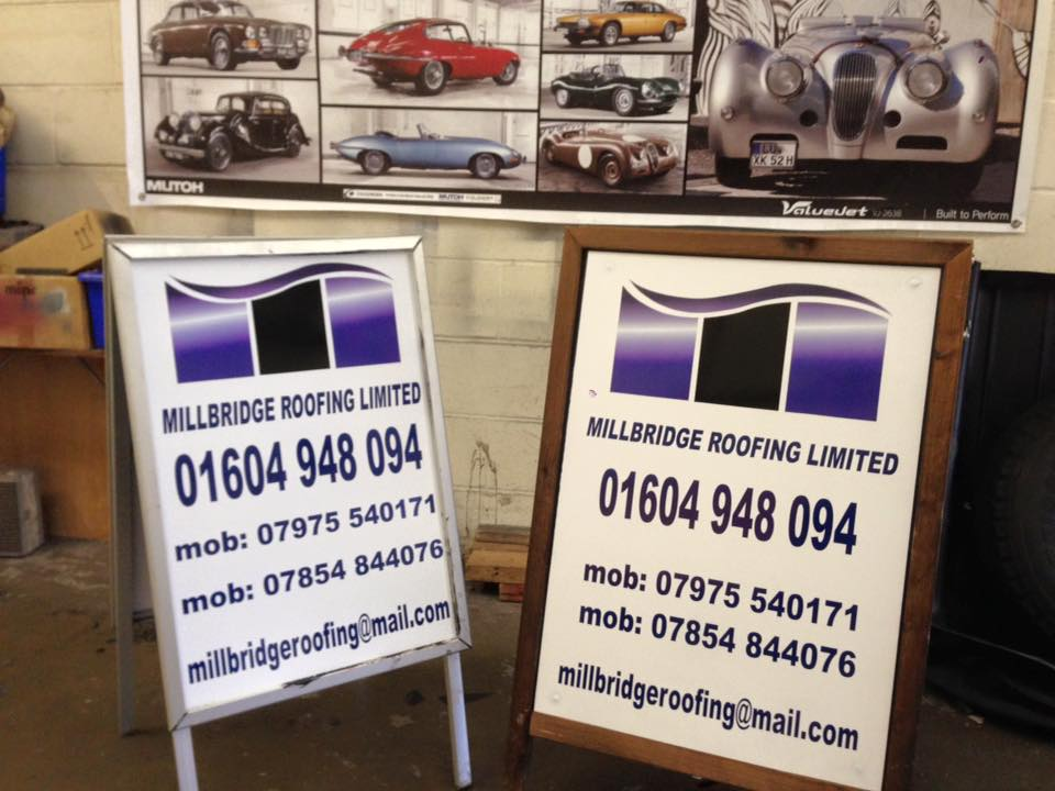 pavement sign makers and installers northampton