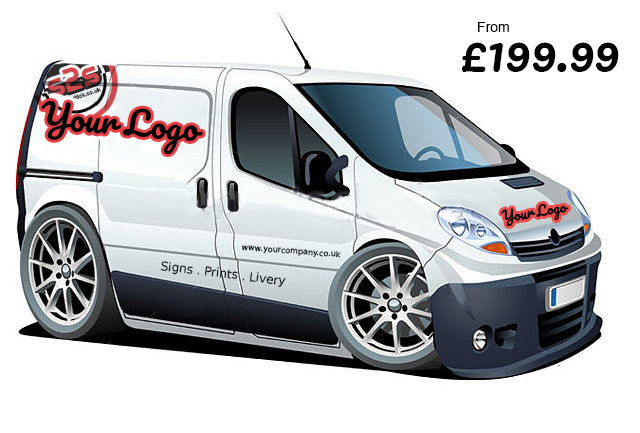 get your van livery, sign written by signs 2 stick in northampton