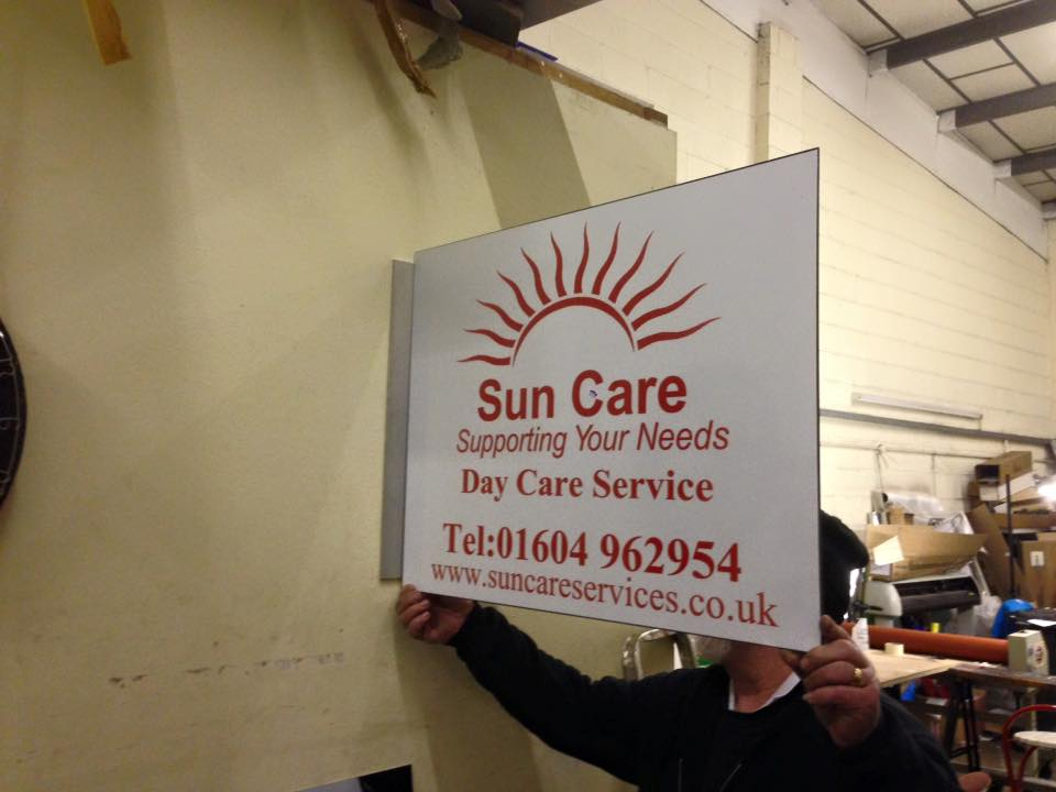 we can make and install any wall sign in northampton