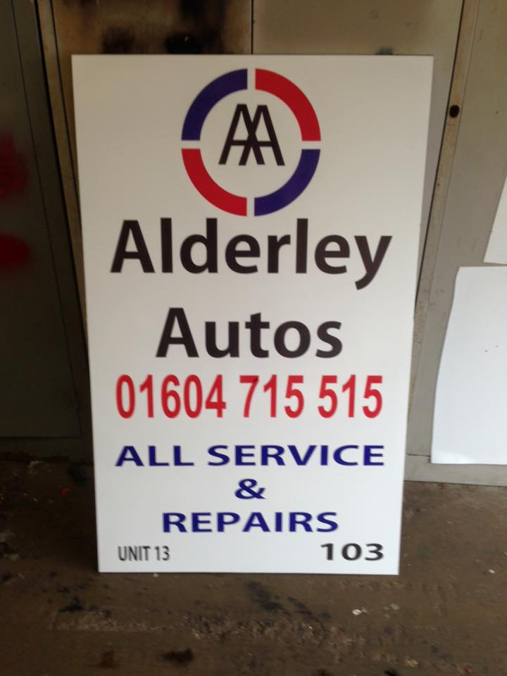 business sign for a car repair garage