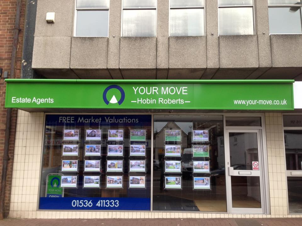 New shop sign for your move branch in northampton