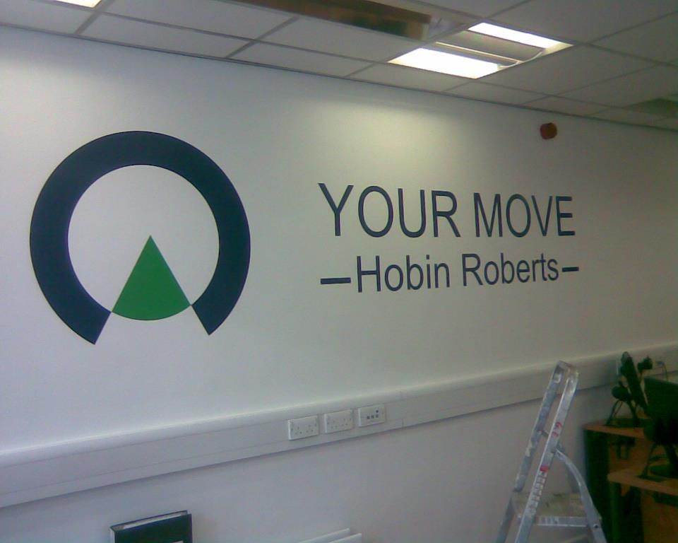 interior sign for a shop in northampton