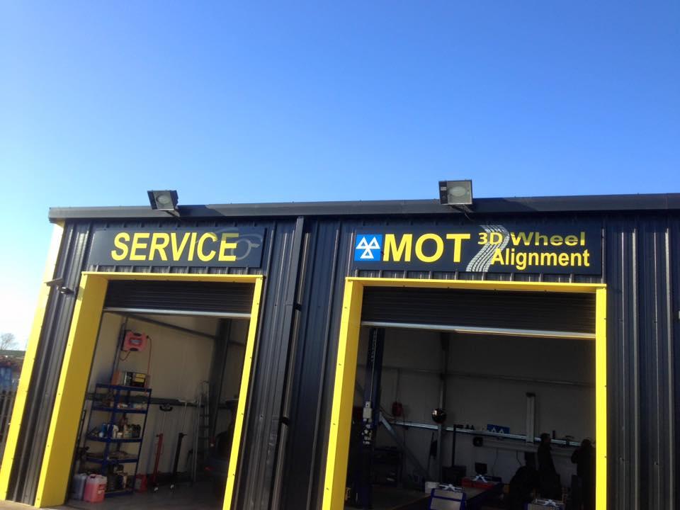 automotive business sign
